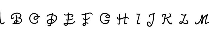 Oceania Font UPPERCASE