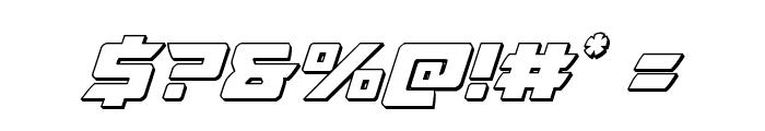 Oceanic Drift 3D Italic Font OTHER CHARS