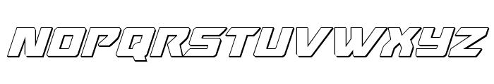 Oceanic Drift 3D Italic Font UPPERCASE