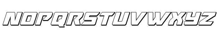 Oceanic Drift 3D Italic Font LOWERCASE