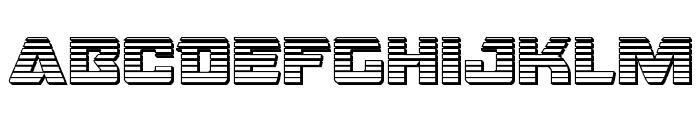 Oceanic Drift Chrome Font UPPERCASE