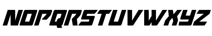 Oceanic Drift Condensed Italic Font UPPERCASE