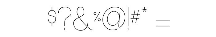 Ocho Siete Font OTHER CHARS