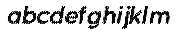 Ocie Bold Italic Font LOWERCASE