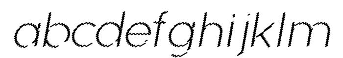 Ocie Light Italic Font LOWERCASE