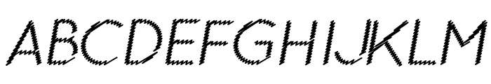 Ocie Normal Italic Font UPPERCASE