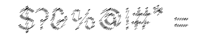 Ocie Storm Font OTHER CHARS