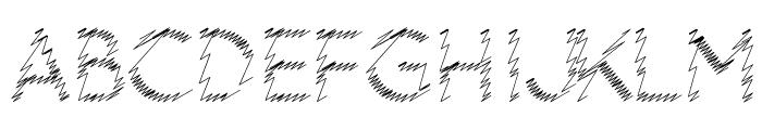 Ocie Storm Font UPPERCASE