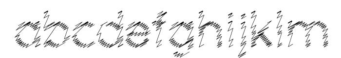 Ocie Storm Font LOWERCASE