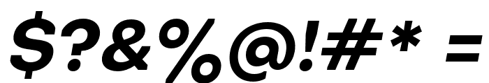 Octarine-BoldOblique Font OTHER CHARS