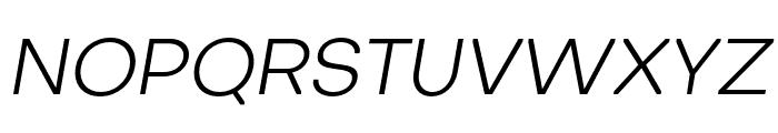 Octarine-LightOblique Font UPPERCASE