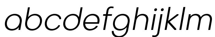 Octarine-LightOblique Font LOWERCASE