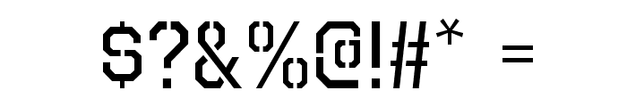 Octin Prison Free Font OTHER CHARS