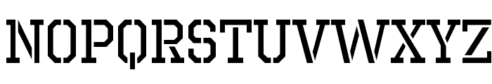 Octin Prison Free Font UPPERCASE