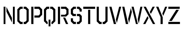 Octin Stencil Free Font LOWERCASE