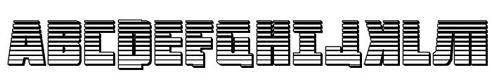 October Guard Chrome Regular Font UPPERCASE
