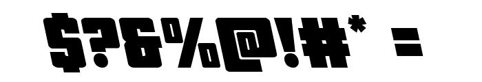 October Guard Leftalic Font OTHER CHARS