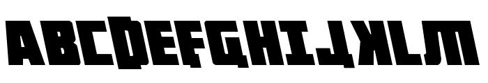 October Guard Leftalic Font UPPERCASE