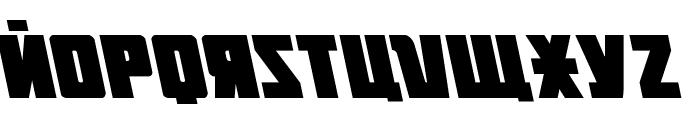 October Guard Leftalic Font LOWERCASE
