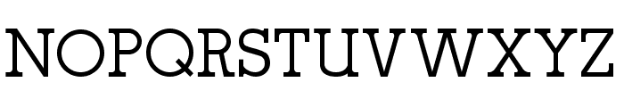 oce slab serif Font UPPERCASE