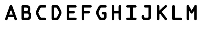 OCR A Tribute Bold Monospaced Font UPPERCASE