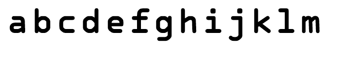 OCR A Tribute Bold Monospaced Font LOWERCASE