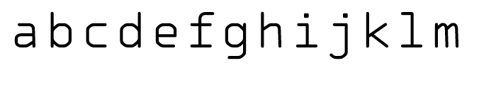 OCR A Tribute Light Monospaced Font LOWERCASE