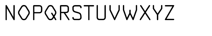 OCR A Tribute Light Font UPPERCASE