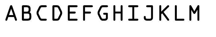 OCR A Tribute Regular Monospaced Font UPPERCASE