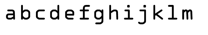 OCR A Tribute Regular Monospaced Font LOWERCASE