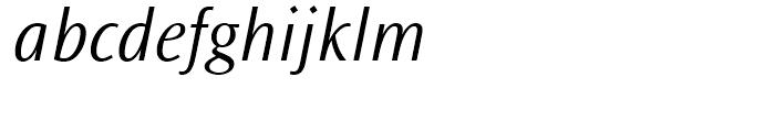 Ocean Sans Light Italic Font LOWERCASE