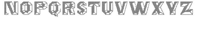 Octagon Digital Font UPPERCASE