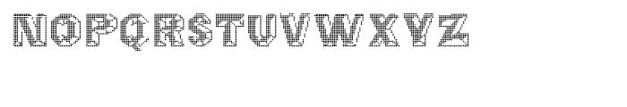 Octagon Digital Font LOWERCASE