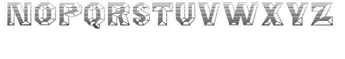 Octagon Gradient Font UPPERCASE