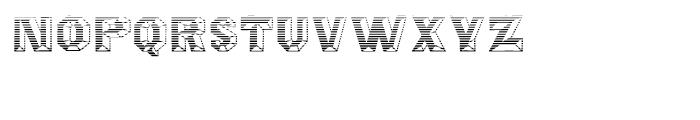 Octagon Gradient Font LOWERCASE