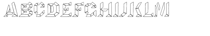 Octagon LED Regular Font UPPERCASE