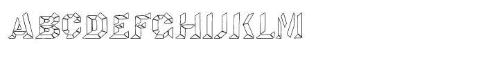 Octagon LED Regular Font LOWERCASE