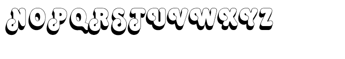 Octopuss Shaded Font UPPERCASE
