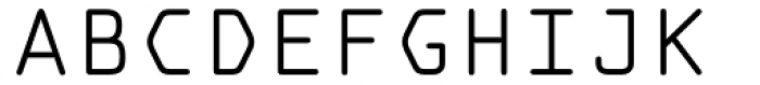 OCR A Tribute Light Monospaced Font UPPERCASE