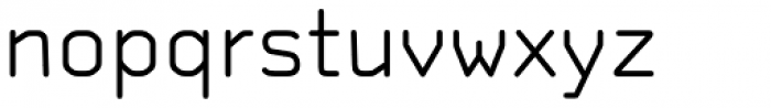 OCR A Tribute Light Font LOWERCASE