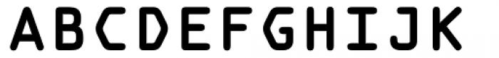 OCR A Tribute Pro Bold Monospaced Font UPPERCASE