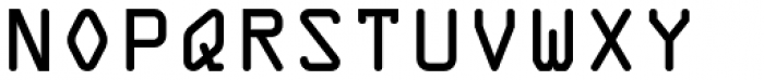 OCR One Font UPPERCASE