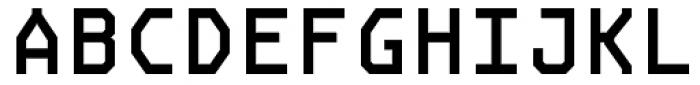 OCRJ Bold Square Font UPPERCASE