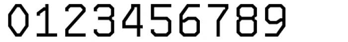 OCRJ Light Square Font OTHER CHARS