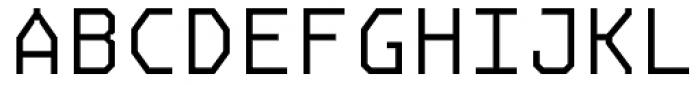 OCRJ Light Square Font UPPERCASE