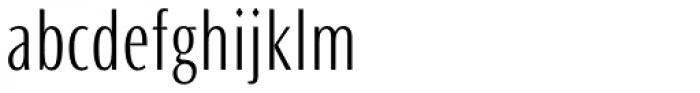 Ocean Sans Pro Condensed Light Font LOWERCASE