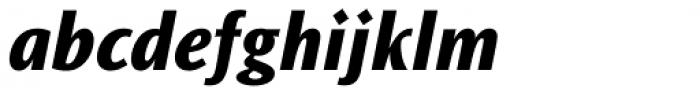 Ocean Sans Std Extra Bold Italic Font LOWERCASE