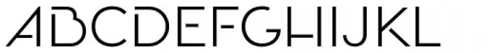 Oceanshore Light Font UPPERCASE