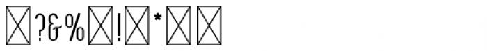Oceantide Display Regular Font OTHER CHARS