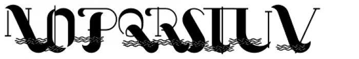 Oceantide Display Regular Font UPPERCASE